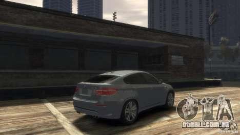 BMW X6M para GTA 4 traseira esquerda vista