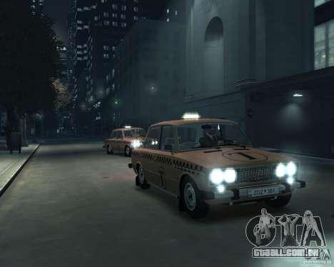 Táxi de 2106 VAZ para GTA 4 vista lateral