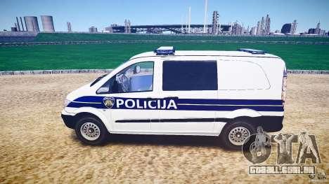 Mercedes Benz Viano Croatian police [ELS] para GTA 4 esquerda vista