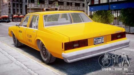 Chevrolet Impala Taxi 1983 para GTA 4 vista superior