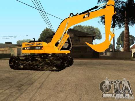 Escavadeira CAT para GTA San Andreas vista traseira