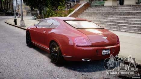 Bentley Continental GT 2004 para GTA 4 traseira esquerda vista