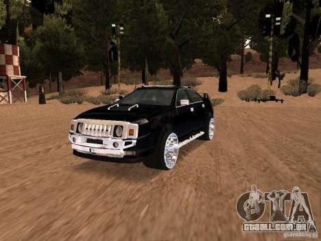 Hummer H0 para GTA San Andreas vista traseira