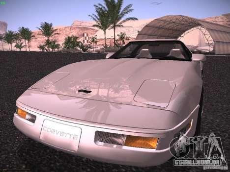 Chevrolet Corvette Grand Sport para GTA San Andreas traseira esquerda vista