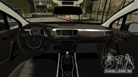 Peugeot 508 Presidentielle ELS para GTA 4 vista direita