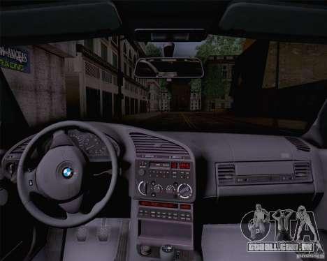 BMW M3 E36 1995 para GTA San Andreas traseira esquerda vista