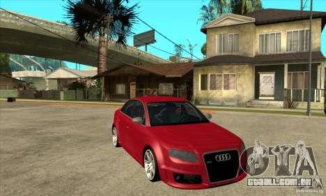 Audi RS4 2006 para GTA San Andreas vista traseira