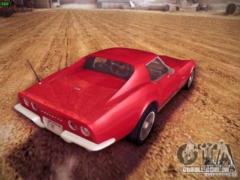 Chevrolet Corvette Stingray 1968 para GTA San Andreas esquerda vista