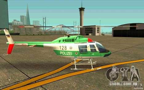 Bell 206 B Police texture3 para GTA San Andreas traseira esquerda vista