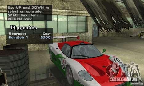 Ferrari F50 GT (v1.0.0) para vista lateral GTA San Andreas