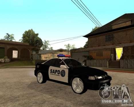 Honda Integra 1996 SA POLICE para GTA San Andreas vista traseira