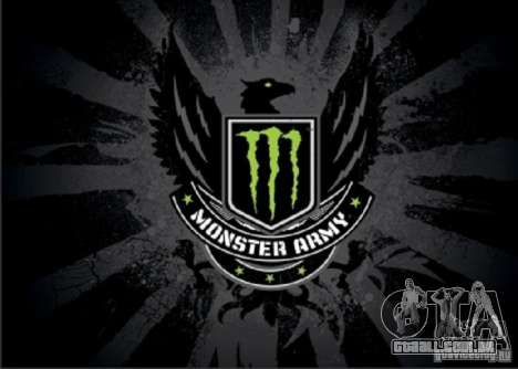 Tela de boot Monster Energy para GTA San Andreas sexta tela