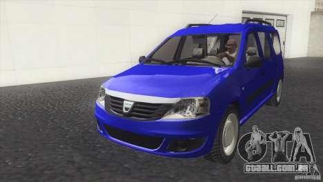 Dacia Logan MCV Facelift para GTA San Andreas vista direita