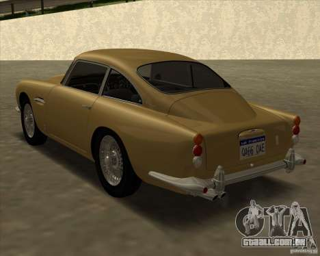Aston Martin DB5 Vantage 1965 para GTA San Andreas esquerda vista