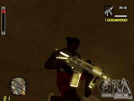 White and Black weapon pack para GTA San Andreas