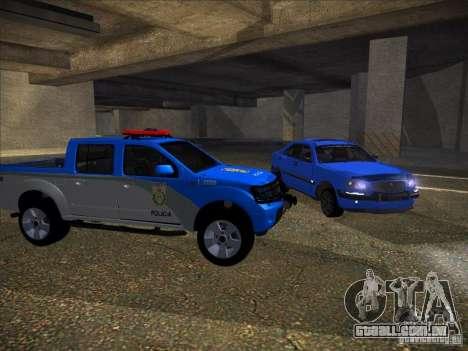 Nissan Frontier PMERJ para GTA San Andreas esquerda vista
