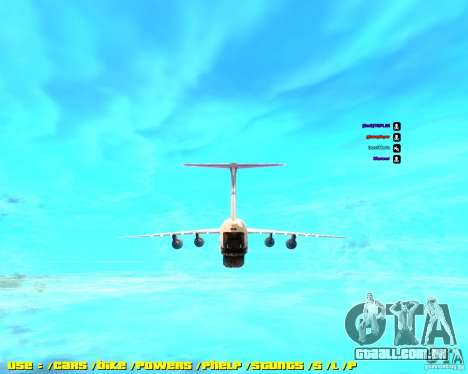 Lockheed C5-M Super Galaxy para GTA San Andreas traseira esquerda vista