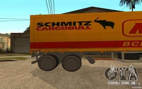 Íman em forma de trailer para GTA San Andreas esquerda vista