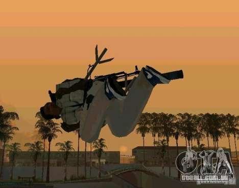 Animações de recrutamento de GTA IV para GTA San Andreas quinto tela