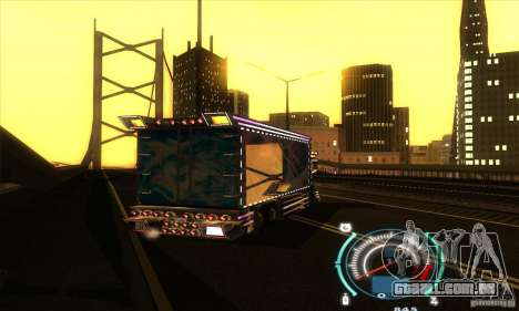 Caminhão japonês para GTA San Andreas traseira esquerda vista