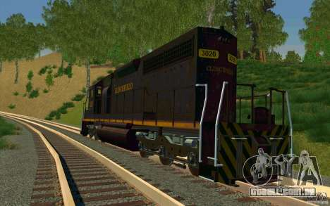 Clinchfield sd40 para GTA San Andreas traseira esquerda vista