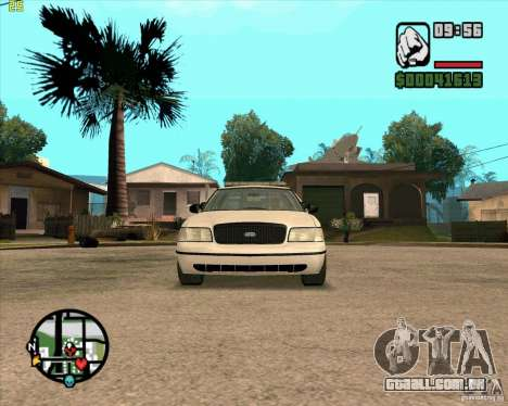 Ford Crown Victoria Baltmore County Police para GTA San Andreas esquerda vista