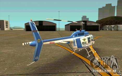 Bell 206 B Police texture1 para GTA San Andreas vista direita