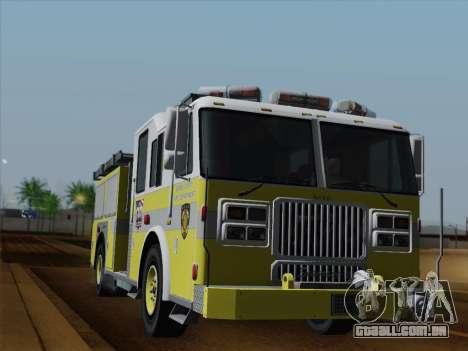 Seagrave Marauder II BCFD Engine 44 para GTA San Andreas interior