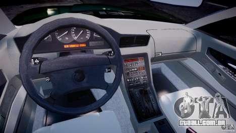 BMW 850i E31 1989-1994 para GTA 4 vista direita