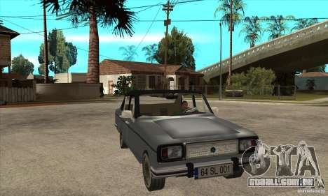 Anadol A1 SL 1975 para GTA San Andreas vista traseira