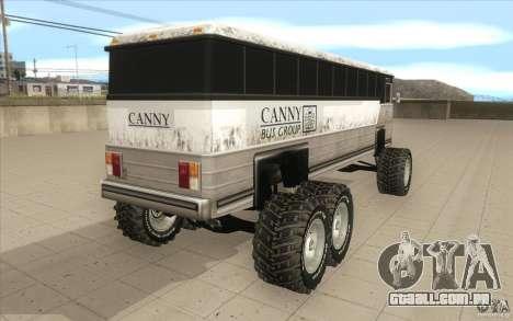 Bus monster [Beta] para GTA San Andreas traseira esquerda vista