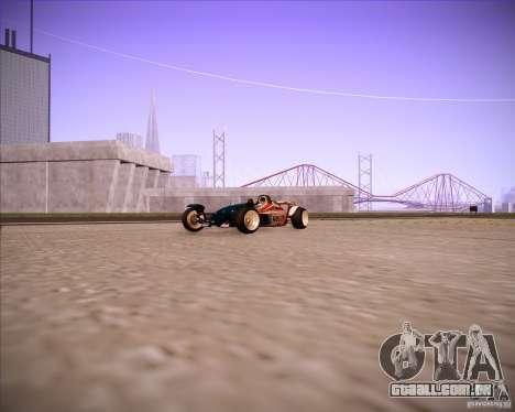 Track Mania Stadium Car para GTA San Andreas traseira esquerda vista