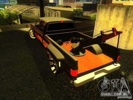 Chevrolet Silverado Towtruck para GTA San Andreas traseira esquerda vista