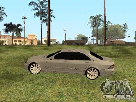 Mercedes-Benz S600 w200 para GTA San Andreas traseira esquerda vista