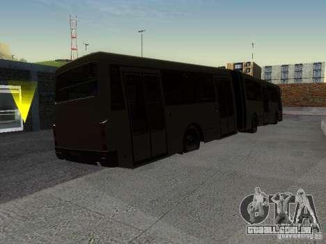 Laz-А291 para GTA San Andreas vista traseira