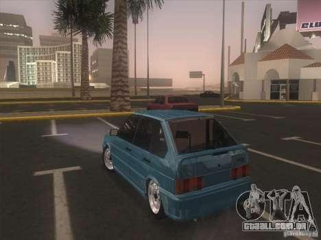 ВАЗ 2114 Casino para GTA San Andreas traseira esquerda vista