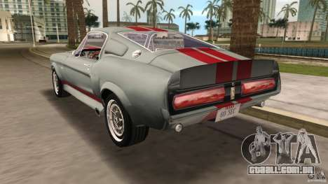 Ford Shelby GT500 para GTA Vice City vista lateral
