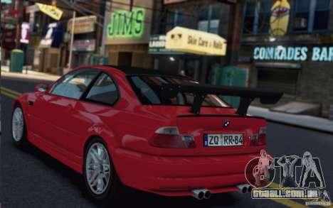 BMW M3 Street Version e46 para GTA 4 traseira esquerda vista