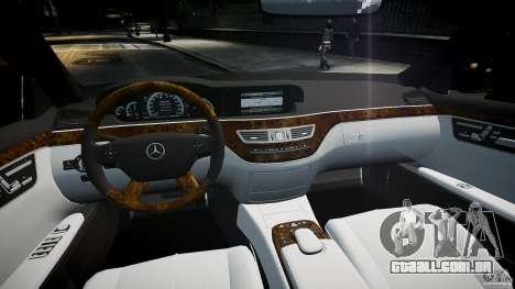 Mercedes Benz w221 s500 v1.0 sl 65 amg wheels para GTA 4 vista direita