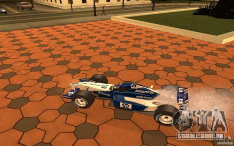 BMW F1 Williams para GTA San Andreas traseira esquerda vista