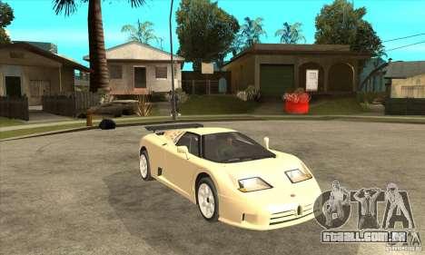 Bugatti EB110 SS 1992 para GTA San Andreas vista direita