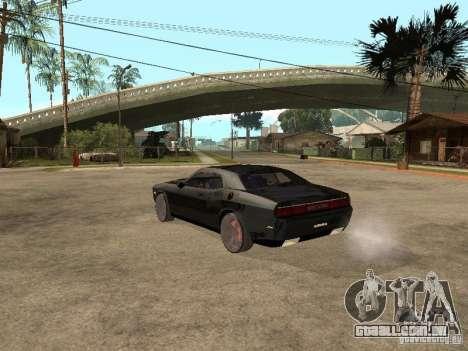 Dodge Challenger para GTA San Andreas vista traseira
