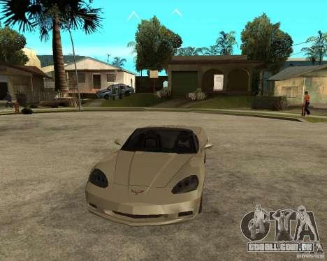 2005 Chevy Corvette C6 para GTA San Andreas vista traseira