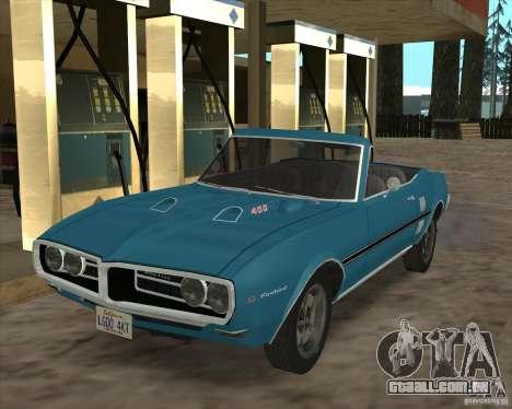 Pontiac Firebird Conversible 1966 para GTA San Andreas vista traseira