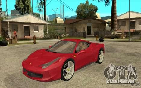 Ferrari F458 para GTA San Andreas