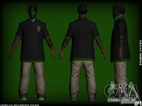G.R.O.V.E. Skinpack para GTA San Andreas segunda tela