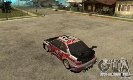 Subaru Impreza 2002 Tunable - Stock para as rodas de GTA San Andreas