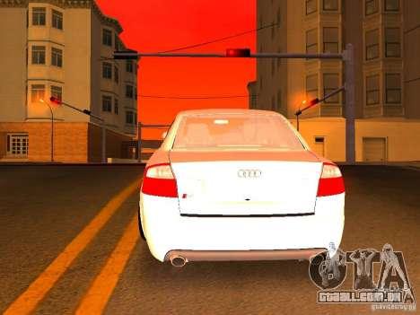 Audi S4 OEM para GTA San Andreas interior