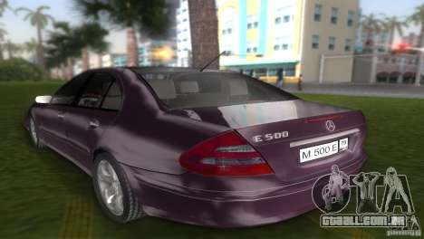 Mercedes E-class E500 para GTA Vice City deixou vista