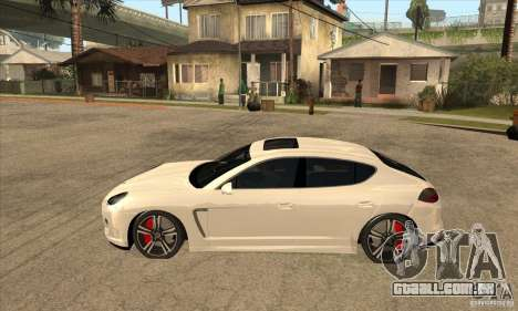Porsche Panamera Turbo para GTA San Andreas esquerda vista